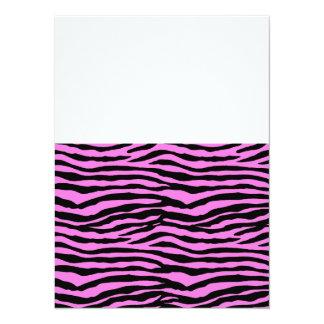 Light Pink Zebra Stripes Card