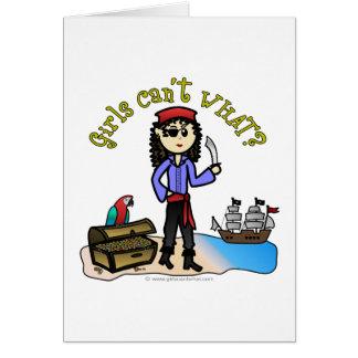 Light Pirate Girl Card