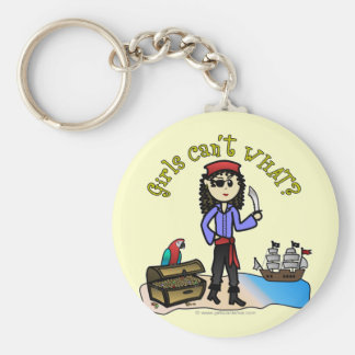 Light Pirate Girl Keychain
