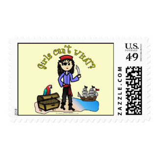 Light Pirate Girl Postage