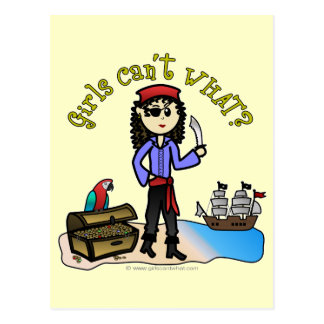Light Pirate Girl Postcard
