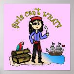 Light Pirate Girl Print