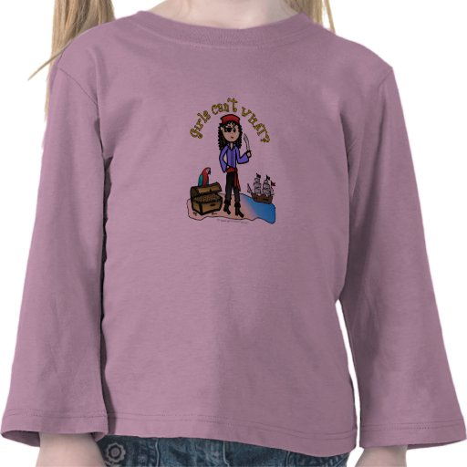 Light Pirate Girl Shirt
