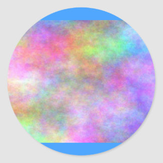 light_plasma_colors classic round sticker