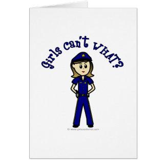 Light Police Officer Girl Card