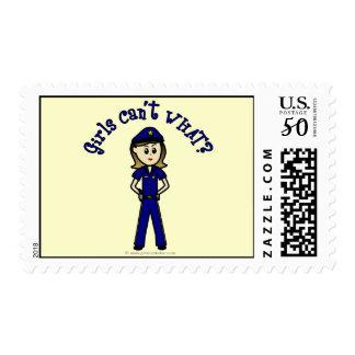 Light Police Officer Girl Postage