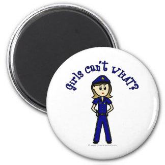 Light Police Officer Refrigerator Magnets