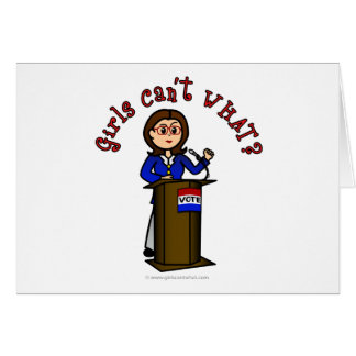 Light Politician Girl Card
