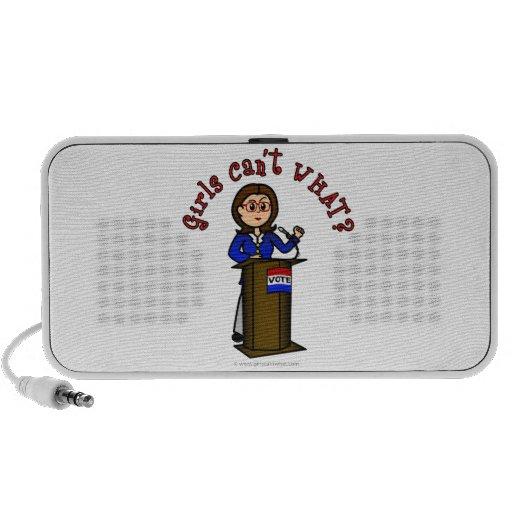 Light Politician Girl Speaker System