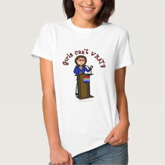 Light Politician Girl Tee Shirt