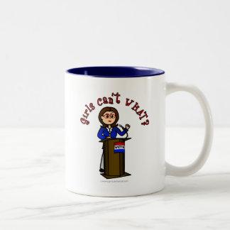Light Politician Girl Two-Tone Coffee Mug