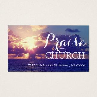 Light Praise Church Religion Christian Pastor Business Card