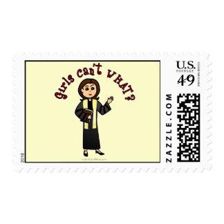 Light Preacher Girl Stamps