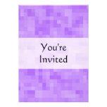 Light Purple Abstract Design. Personalized Invitations