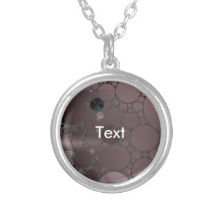 Light Purple Abstract Pattern Silver Plated Necklace