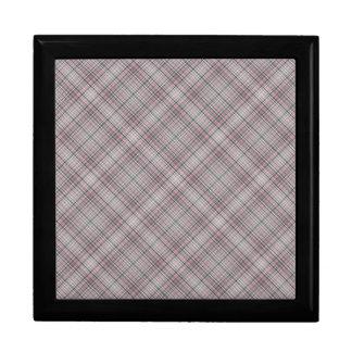 Light Purple and Blue Plaid Pattern Jewelry Box