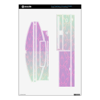 Light Purple and Blue Vintage Eiffel Tower Skin For The PS3