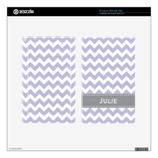 Light Purple and Gray Chevron Kindle Fire Skin