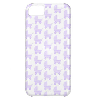 Light Purple and White Baby Stroller Pattern. iPhone 5C Cover
