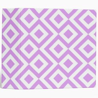 Light Purple and White Meander Pattern Binder