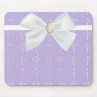 Light Purple and White Mousepad