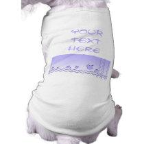 Light Purple and White Wavy Pattern. Shirt