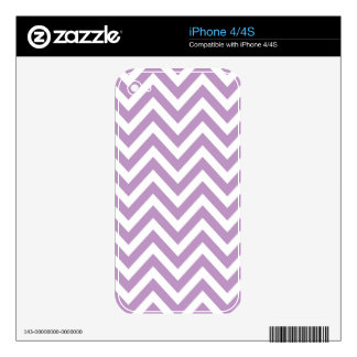 Light Purple and White Zigzag Pattern iPhone 4 Decal