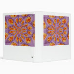 Light purple and yellow rose burst pattern vinyl binder