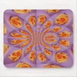 Light purple and yellow rose burst pattern mouse pad