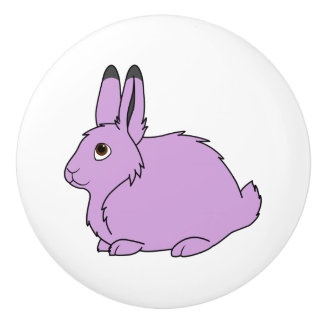 Light Purple Arctic Hare Ceramic Knob