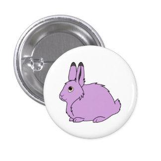 Light Purple Arctic Hare Pinback Button