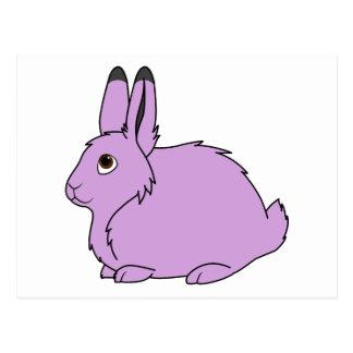 Light Purple Arctic Hare Postcard