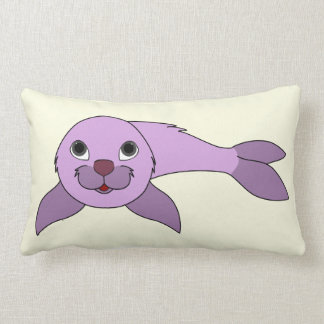 Light Purple Baby Seal Lumbar Pillow
