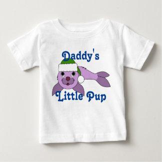 Light Purple Baby Seal with Green Santa Hat T-shirt