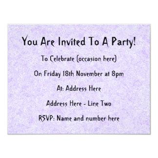 "Light Purple Background Pattern. 4.25"" X 5.5"" Invitation Card"