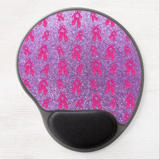 Light purple ballet slippers glitter pattern gel mousepads