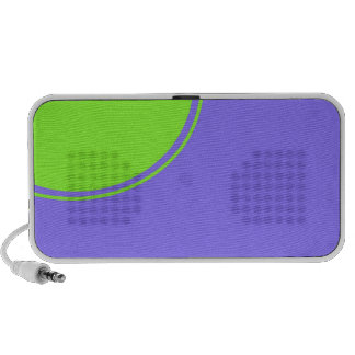 light purple blue green circle notebook speaker