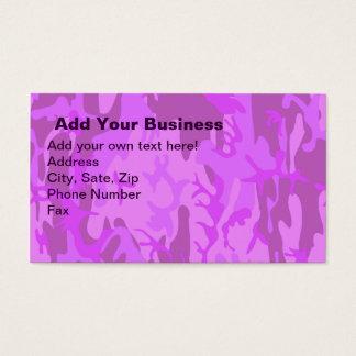 Light Purple Camouflage Business Card
