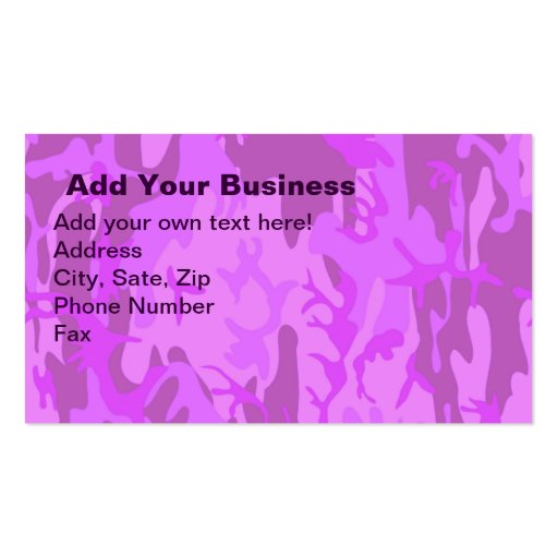 Camo business card templates page3 bizcardstudio light purple camouflage business card template colourmoves