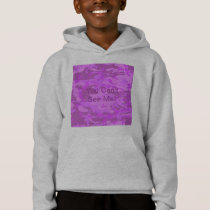 Light Purple Camouflage Hoodie