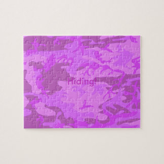 Light Purple Camouflage Jigsaw Puzzle