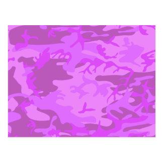 Light Purple Camouflage Postcard