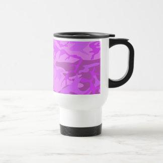 Light Purple Camouflage Travel Mug
