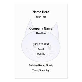 Light purple cat. business card templates