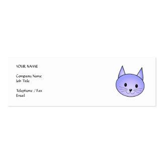 Light purple cat. business card