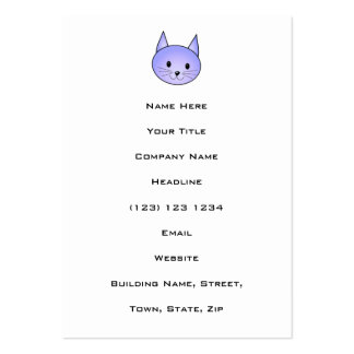 Light purple cat. business card template