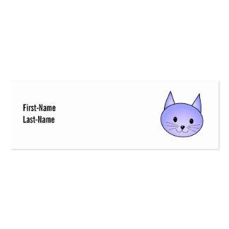 Light purple cat. business cards