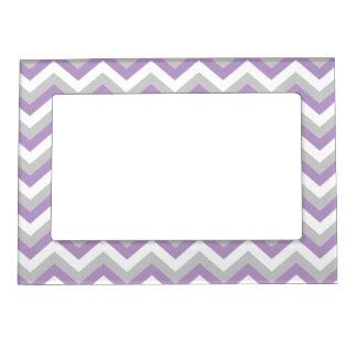 Light Purple Chevron Bold Modern ZigZag Pattern Magnetic Picture Frame