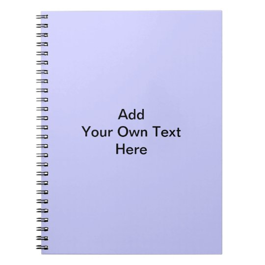 Light Purple Color, with Custom Black Text. Notebook