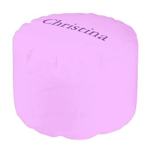 Light Purple Custom Name Pouf Zazzle